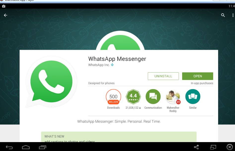 how to use whatsapp on laptop windows 10