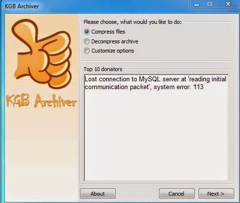 Compress 1 GB File into 10 MB Using KGB Archiver [How To