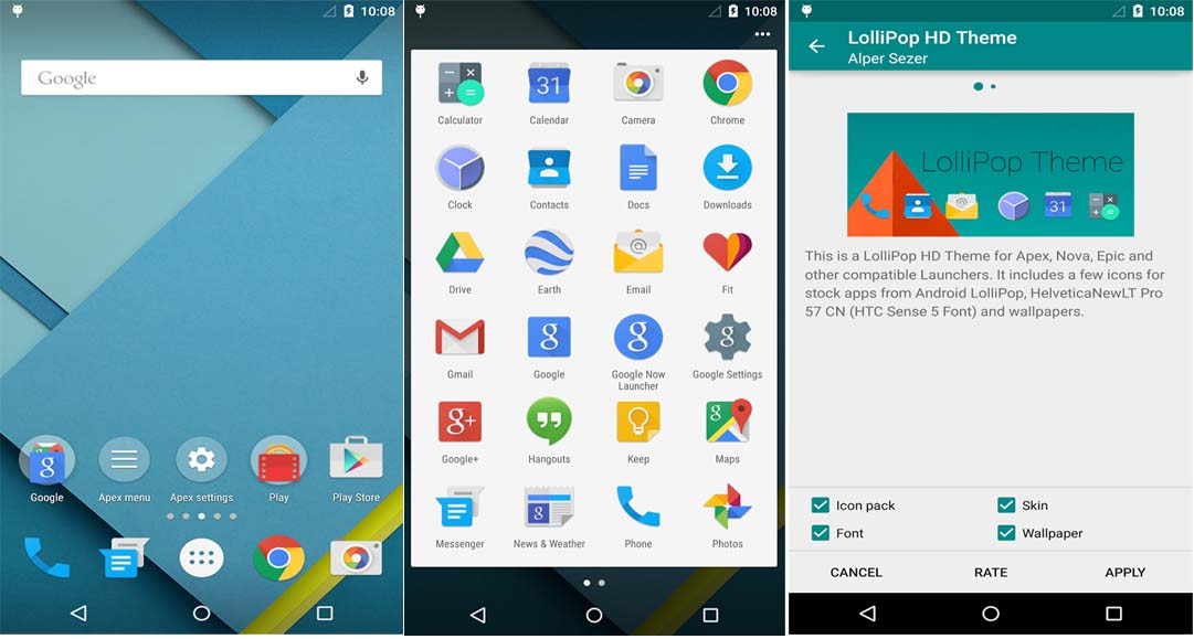 Android Gingerbread Home Screen Pages