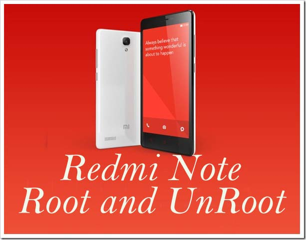 Redmi-Note-root-unroot