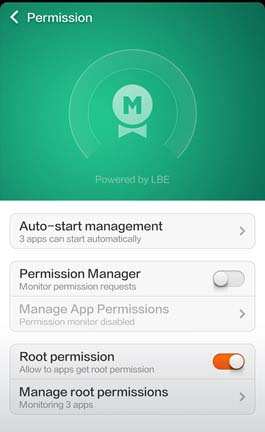 trun-on-root-permission