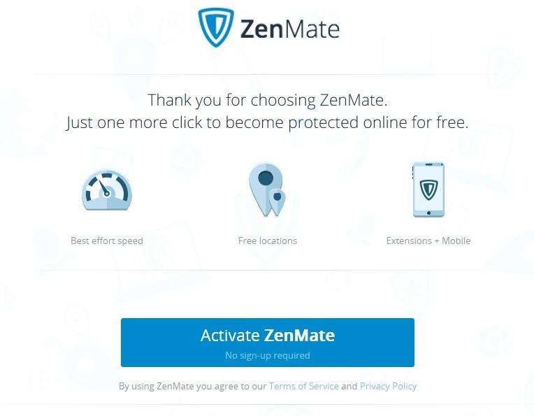 activate zenmate
