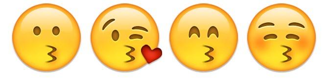 kissing emoji