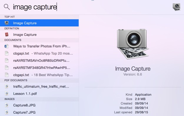 search for image capture
