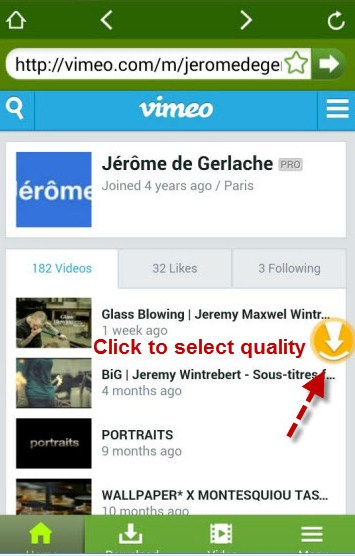 download vimeo videos