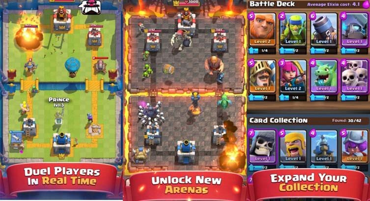clash royale features