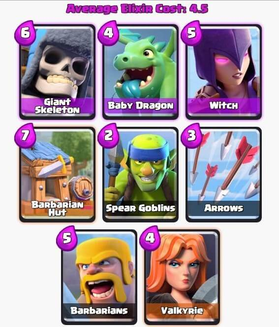 class royal deck  for battle