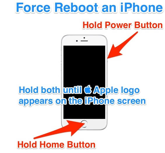 force reboot iphone