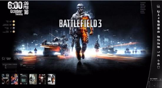 Battlefield 3 Rainmeter Skin