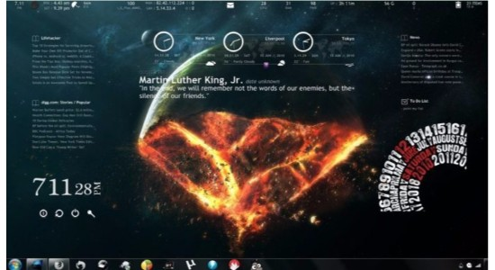 End of the World Rainmeter Theme