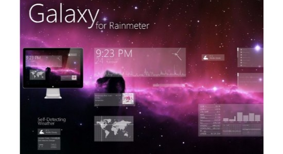 Galaxy Suite Rainmeter Skin