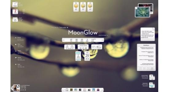 Moon Glow Rainmeter Skin