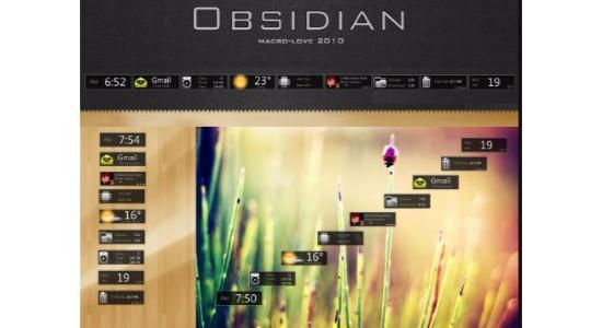 Obsidian Rainmeter Theme