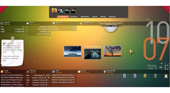 Orange Glow Rainmeter Theme