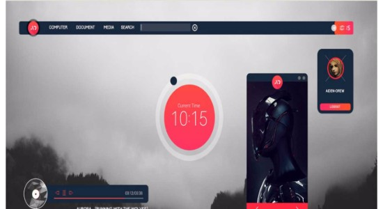Senja Suite Rainmeter Theme