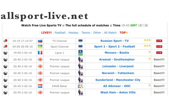 AllSport Live Sports Streaming Sites