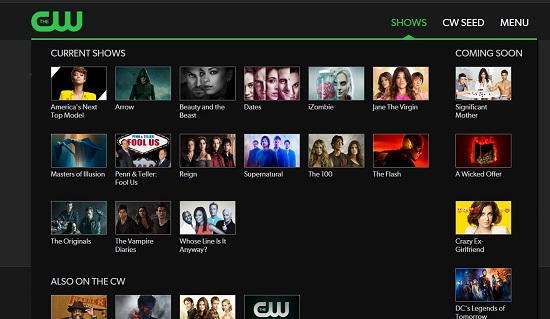 CWTV TV Streaming Sites