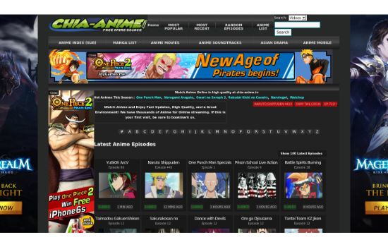Chia Anime Streaming Sites