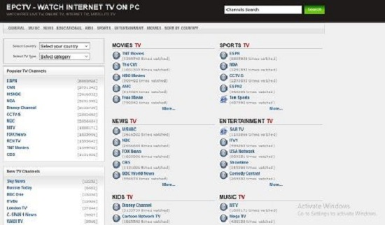 EPCTV TV Streaming Sites