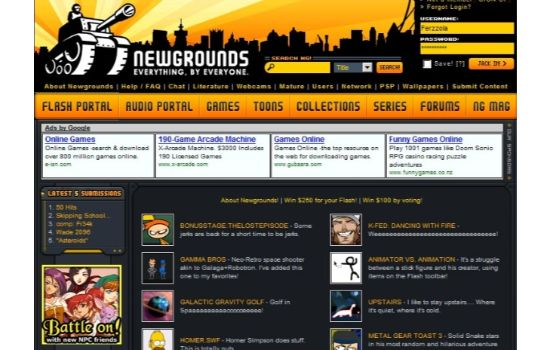 New Grounds Anime Streaming Sites
