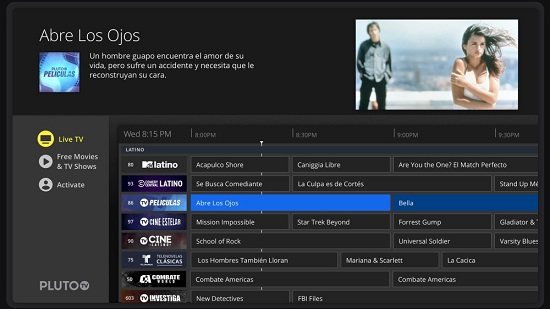 PlutoTV TV Streaming Sites