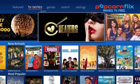 PopcornFlix TV Streaming Sites