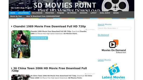 SD Movies Point Movie Download Sites