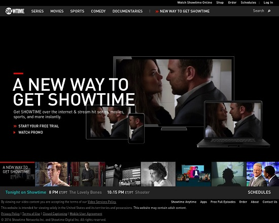 ShowTime TV Streaming Sites