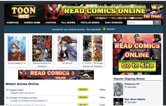 Toon Get Anime Streaming Sites