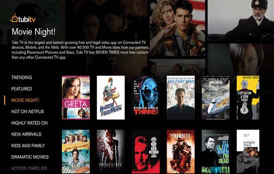 Tubi TV Movie Streaming Sites