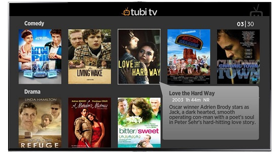 TubiTV TV Streaming Sites