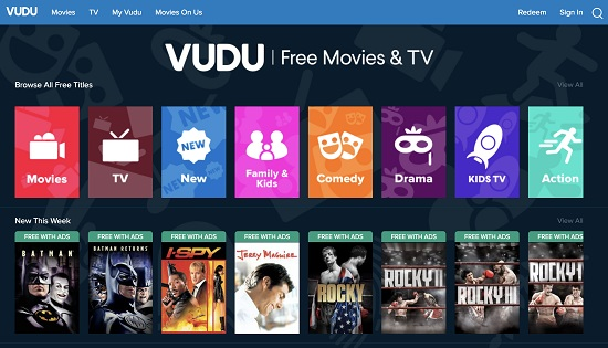 Vudu Movie Streaming Sites