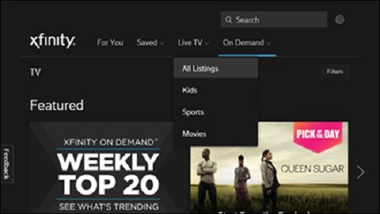Xfinity TV Streaming Sites